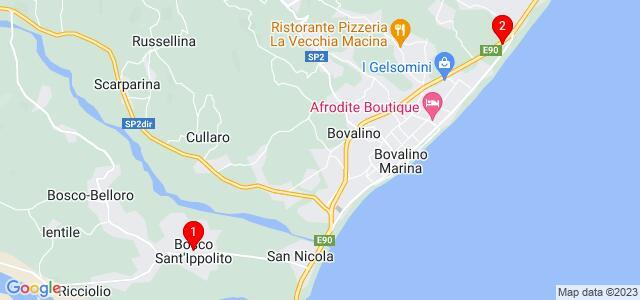 Google Map of Bovalino Marina RC