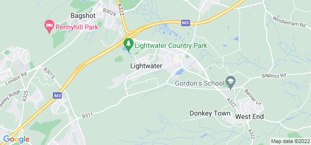 Location map for Carpet Fitter in Lightwater,  GU18