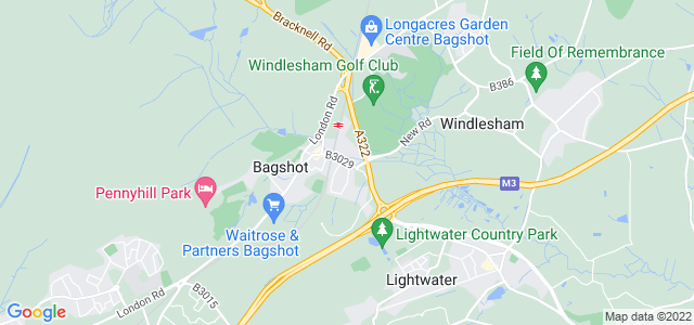 Location map for Carpet Fitter in Bagshot,  GU19