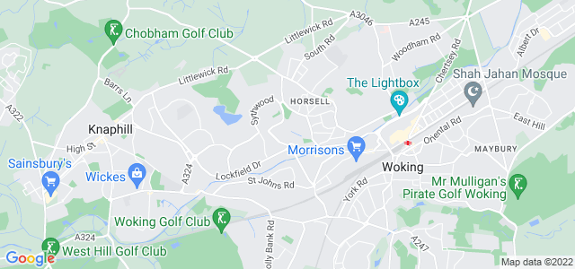 Location map for Carpet Fitter in Woking,  GU21