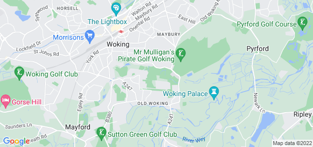 Location map for Carpet Fitter in Woking,  GU22