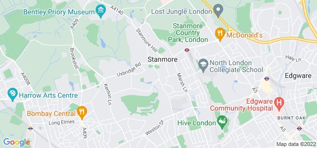 Location map for Carpet Fitter in Stanmore,  HA7