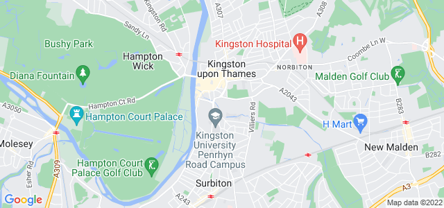Location map for Carpet Fitter in Kingston Upon Thames,  KT1