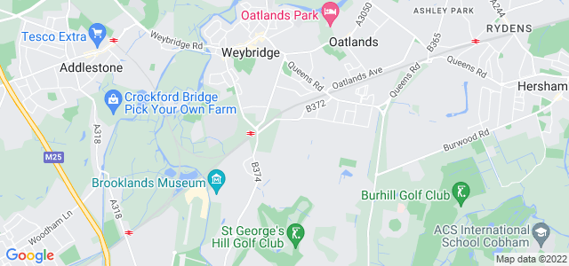 Location map for Carpet Fitter in Weybridge,  KT13