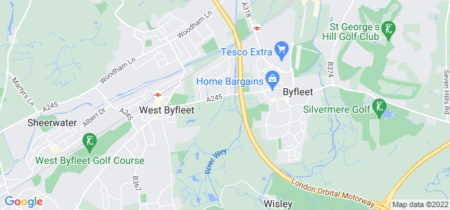 Location map for Carpet Fitter in West Byfleet,  KT14
