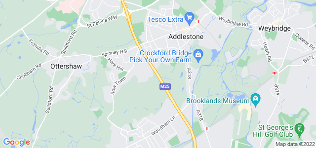 Location map for Carpet Fitter in Addlestone,  KT15