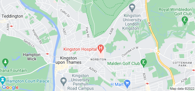 Location map for Carpet Fitter in Kingston Upon Thames,  KT2