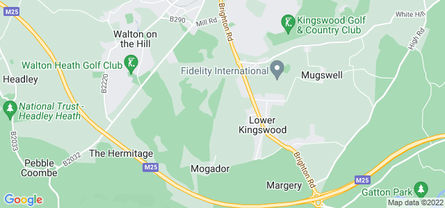 Location map for Carpet Fitter in Tadworth,  KT20