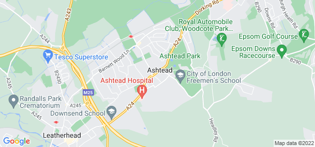 Location map for Carpet Fitter in Ashtead,  KT21