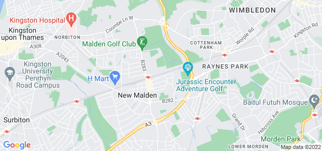 Location map for Carpet Fitter in New Malden,  KT3