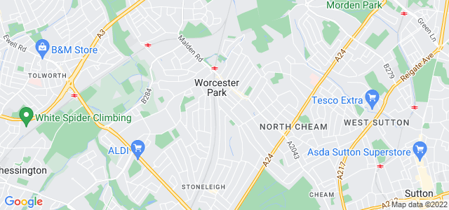 Location map for Carpet Fitter in Worcester Park,  KT4