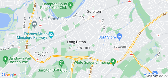 Location map for Carpet Fitter in Surbiton,  KT6