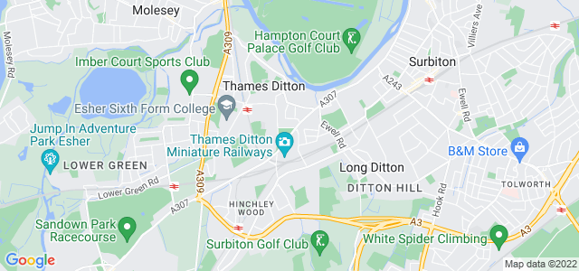 Location map for Carpet Fitter in Thames Ditton,  KT7