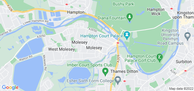Location map for Carpet Fitter in West Molesley,  KT8