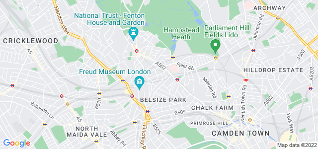 Location map for Carpet Fitter in Hampstead,  NW3