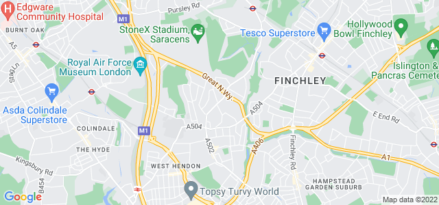 Location map for Carpet Fitter in Hendon,  NW4