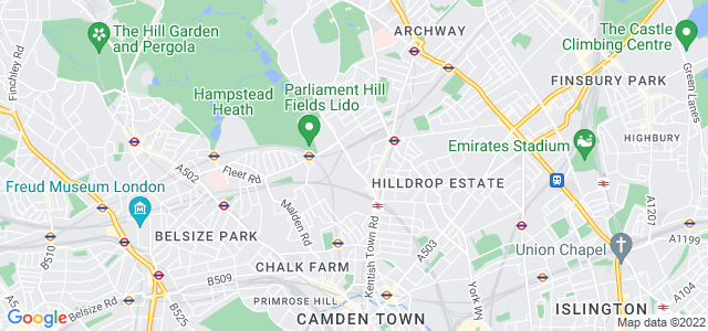 Location map for Carpet Fitter in Kentish Town,  NW5