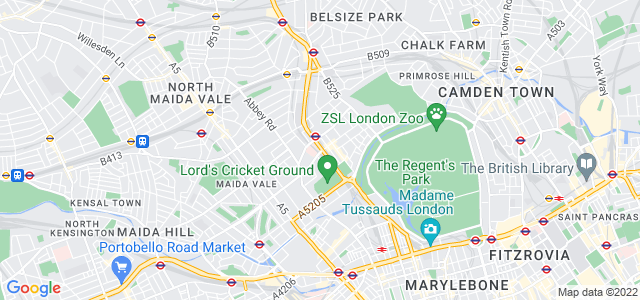 Location map for Carpet Fitter in St John's Wood,  NW8