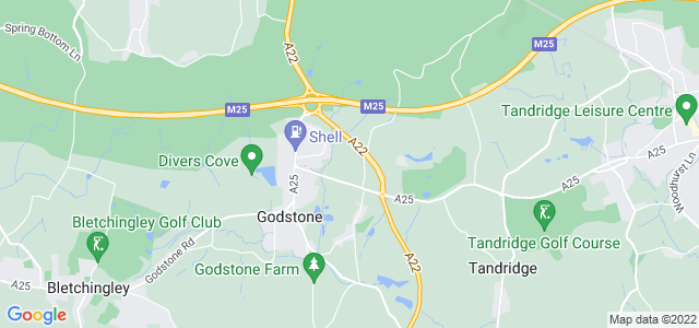 Location map for Carpet Fitter in Godstone,  RH9