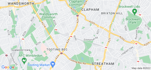 Location map for Carpet Fitter in Balham,  SW12