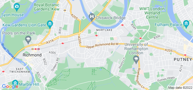 Location map for Carpet Fitter in Mortlake,  SW14