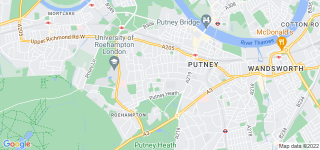 Location map for Carpet Fitter in Putney,  SW15