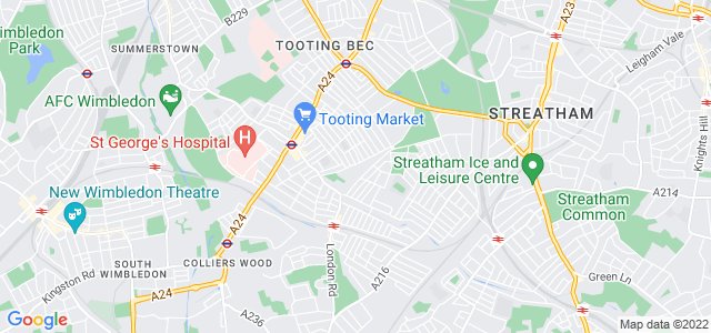 Location map for Carpet Fitter in Streatham,  SW17