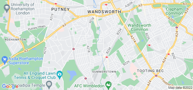 Location map for Carpet Fitter in Tooting,  SW18