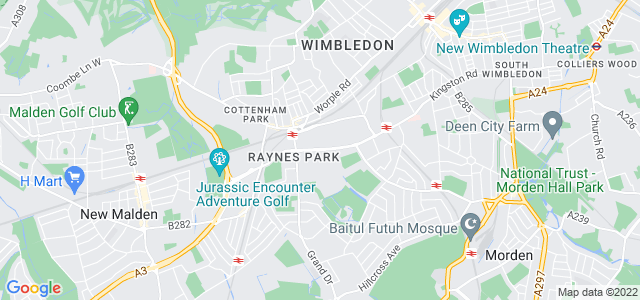 Location map for Carpet Fitter in Raynes Park,  SW20