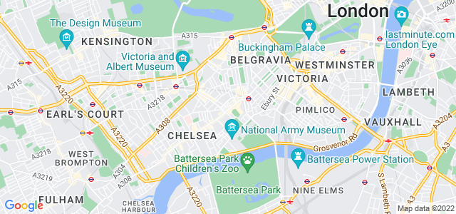 Location map for Carpet Fitter in Chelsea,  SW3