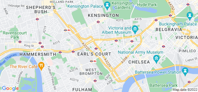 Location map for Carpet Fitter in Earls Court,  SW5