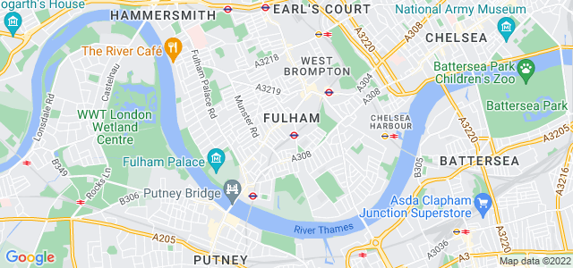 Location map for Carpet Fitter in Fulham,  SW6