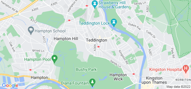 Location map for Carpet Fitter in Teddington,  TW11
