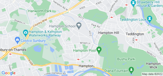 Location map for Carpet Fitter in Hampton,  TW12