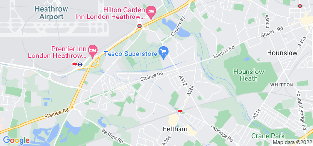 Location map for Carpet Fitter in Feltham,  TW14