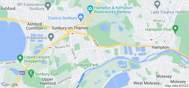 Location map for Carpet Fitter in Sunbury-on-Thames,  TW16