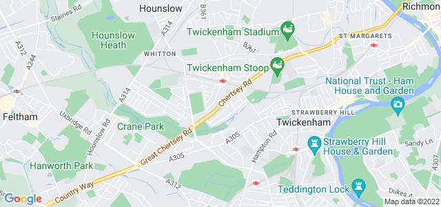 Location map for Carpet Fitter in Twickenham,  TW2