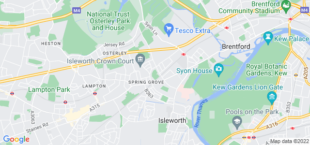 Location map for Carpet Fitter in Iselworth,  TW7