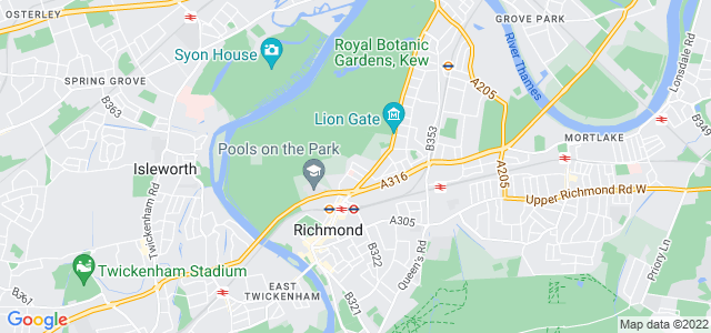Location map for Carpet Fitter in Kew,  TW9