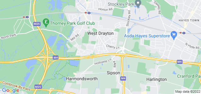 Location map for Carpet Fitter in West Drayton,  UB7