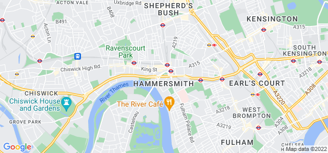 Location map for Carpet Fitter in Hammersmith,  W6