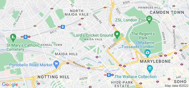 Location map for Carpet Fitter in Maida Vale,  W9