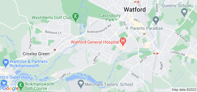 Location map for Carpet Fitter in Watford,  WD18
