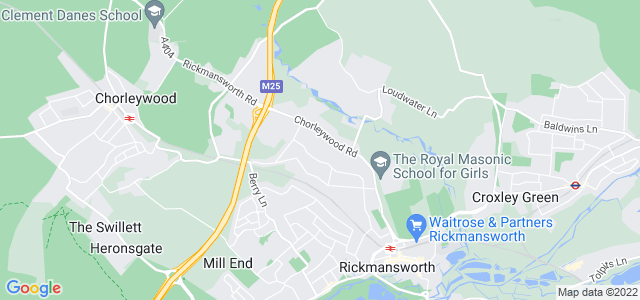 Location map for Carpet Fitter in Rickmansworth,  WD3