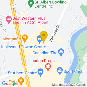 Map to Crown and Tower Pub - St. Albert provided by Google