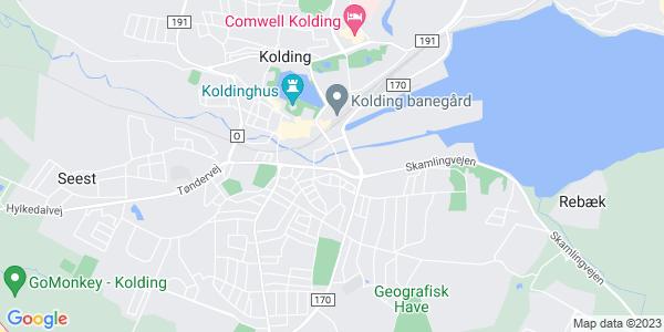 Et kort over Designskolen Kolding