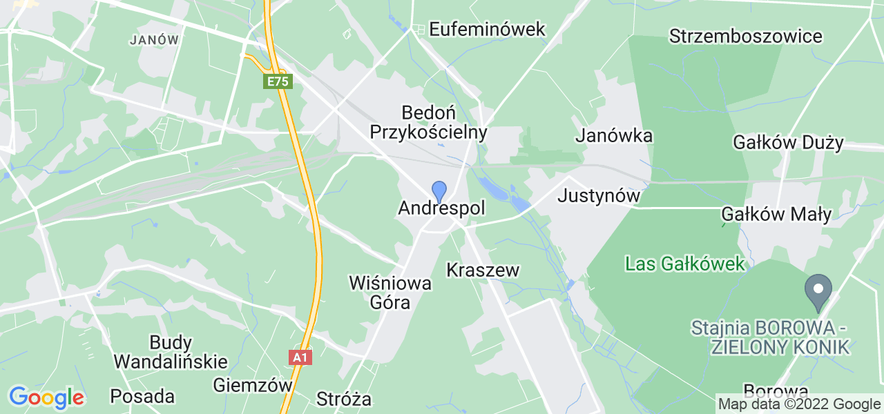 Dostępne w Andrespolu lokalizacje punktów nadania, z których możesz skorzystać, chcąc wysłać turbinę do regeneracji w największym serwisie w Polsce