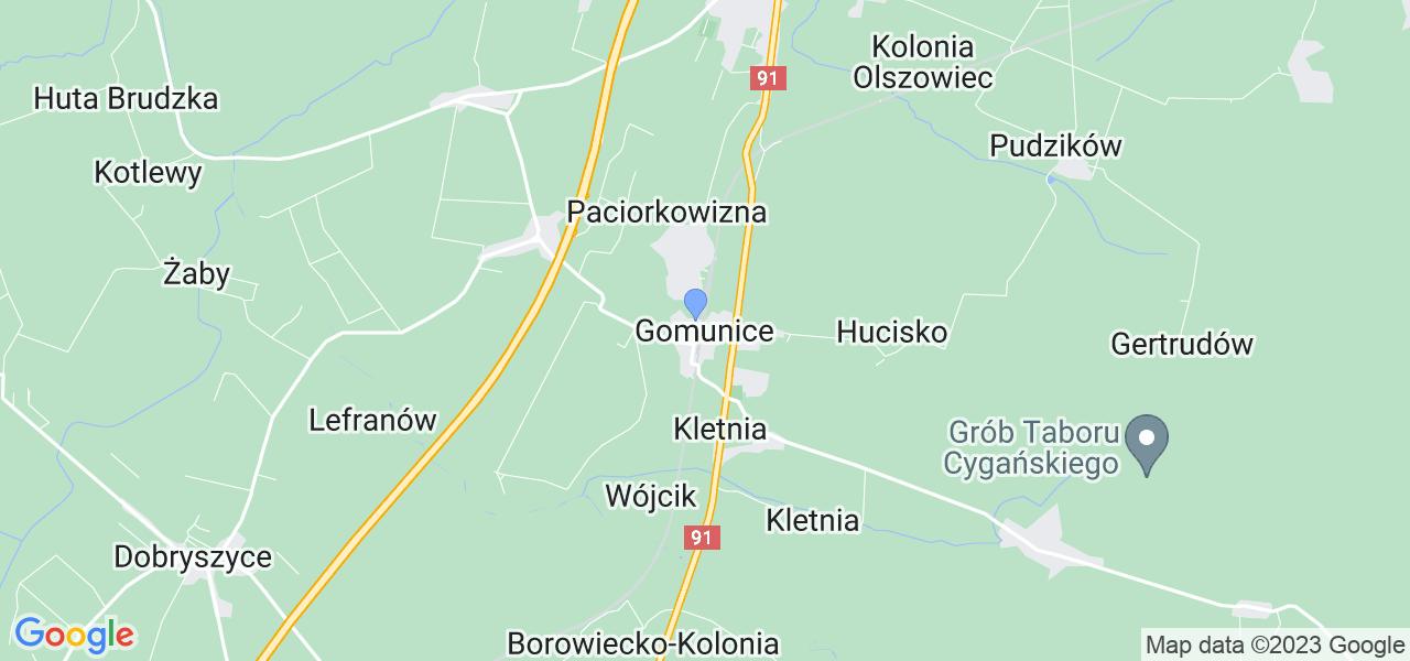 Dostępne w Gomunicach lokalizacje punktów nadania, z których możesz skorzystać, chcąc wysłać turbinę do regeneracji w największym serwisie w Polsce
