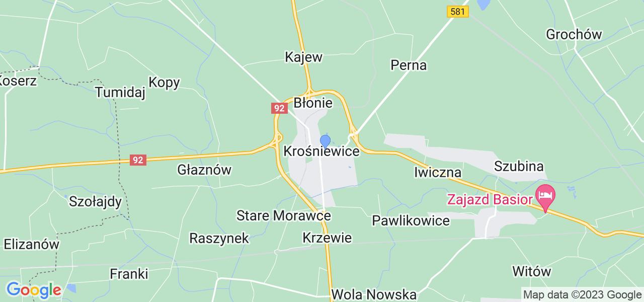 Dostępne w Krośniewicach lokalizacje punktów nadania, z których możesz skorzystać, chcąc wysłać turbinę do regeneracji w największym serwisie w Polsce