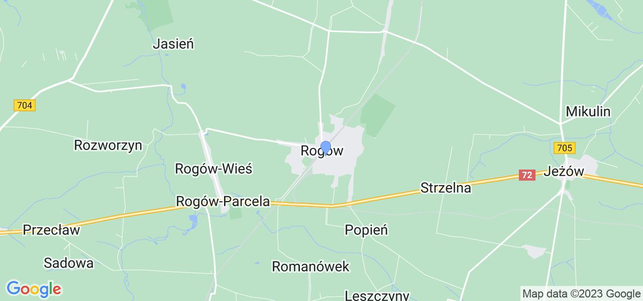 Dostępne w Rogowie lokalizacje punktów nadania, z których możesz skorzystać, chcąc wysłać turbinę do regeneracji w największym serwisie w Polsce